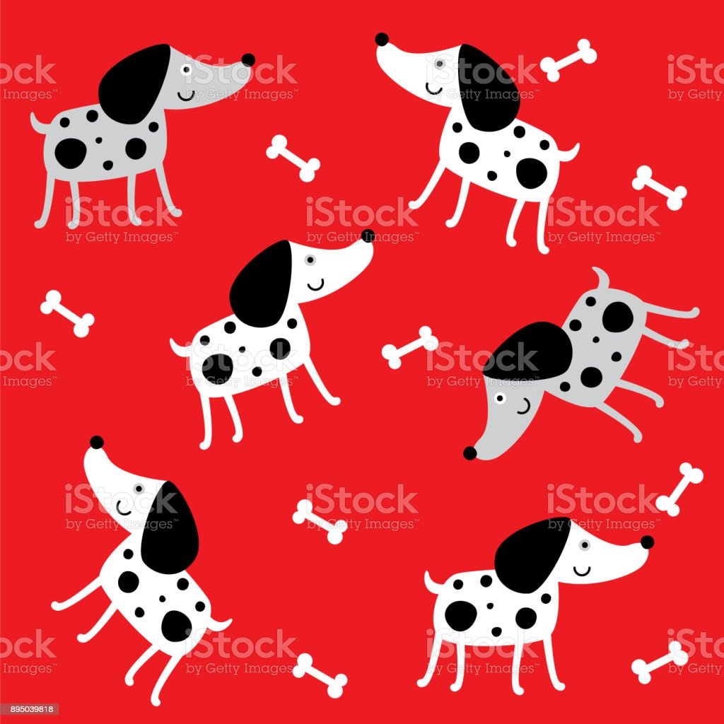 . Cute Puppy Dog Wallpaper Vector Stock Illustration   Download Image