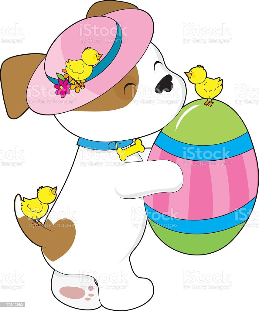 Cute Puppy Easter Egg royalty-free stock vector art