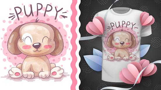 Cute puppy - idea for print t-shirt