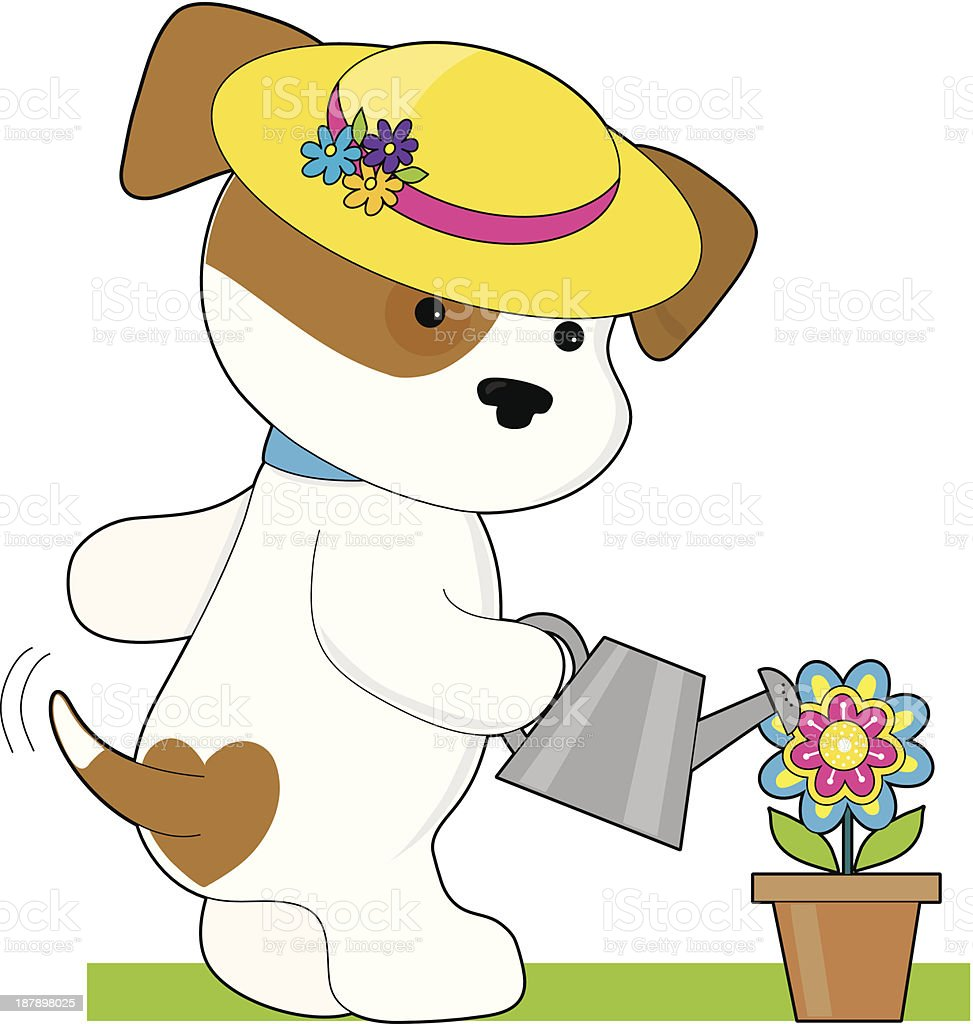Cute Puppy Plant royalty-free stock vector art