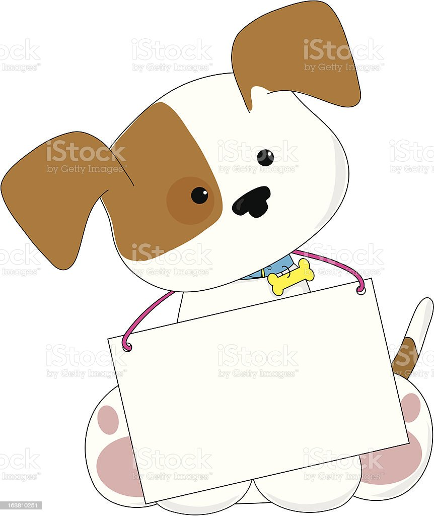 Cute Puppy Sign royalty-free stock vector art
