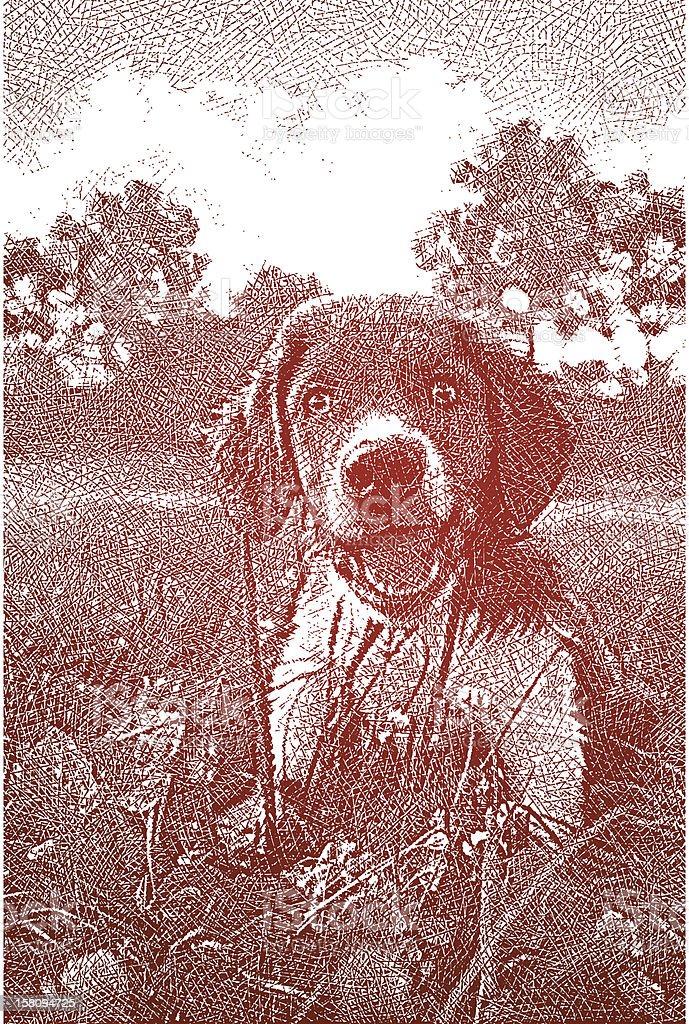 Cute Puppy royalty-free stock vector art