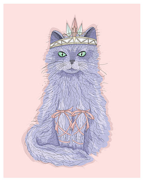 royalty free purple cat clip art vector images illustrations istock