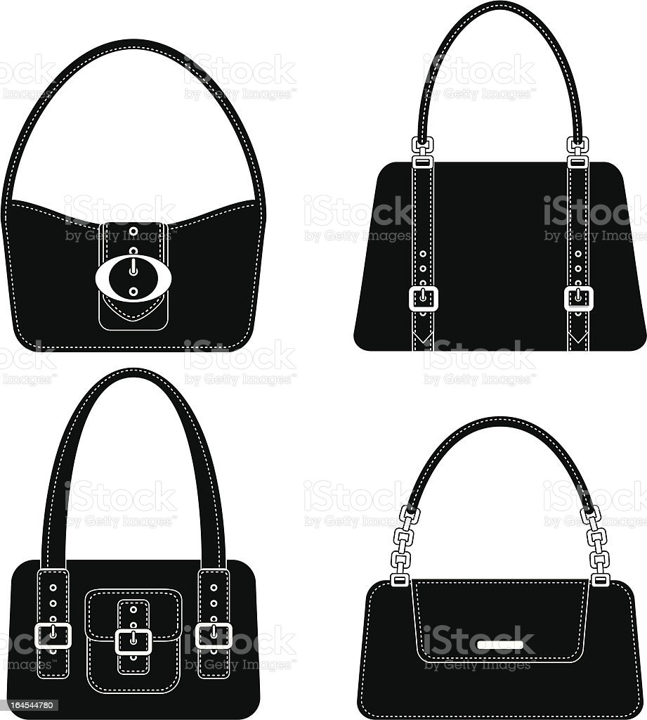 Cute Purse Icons vector art illustration