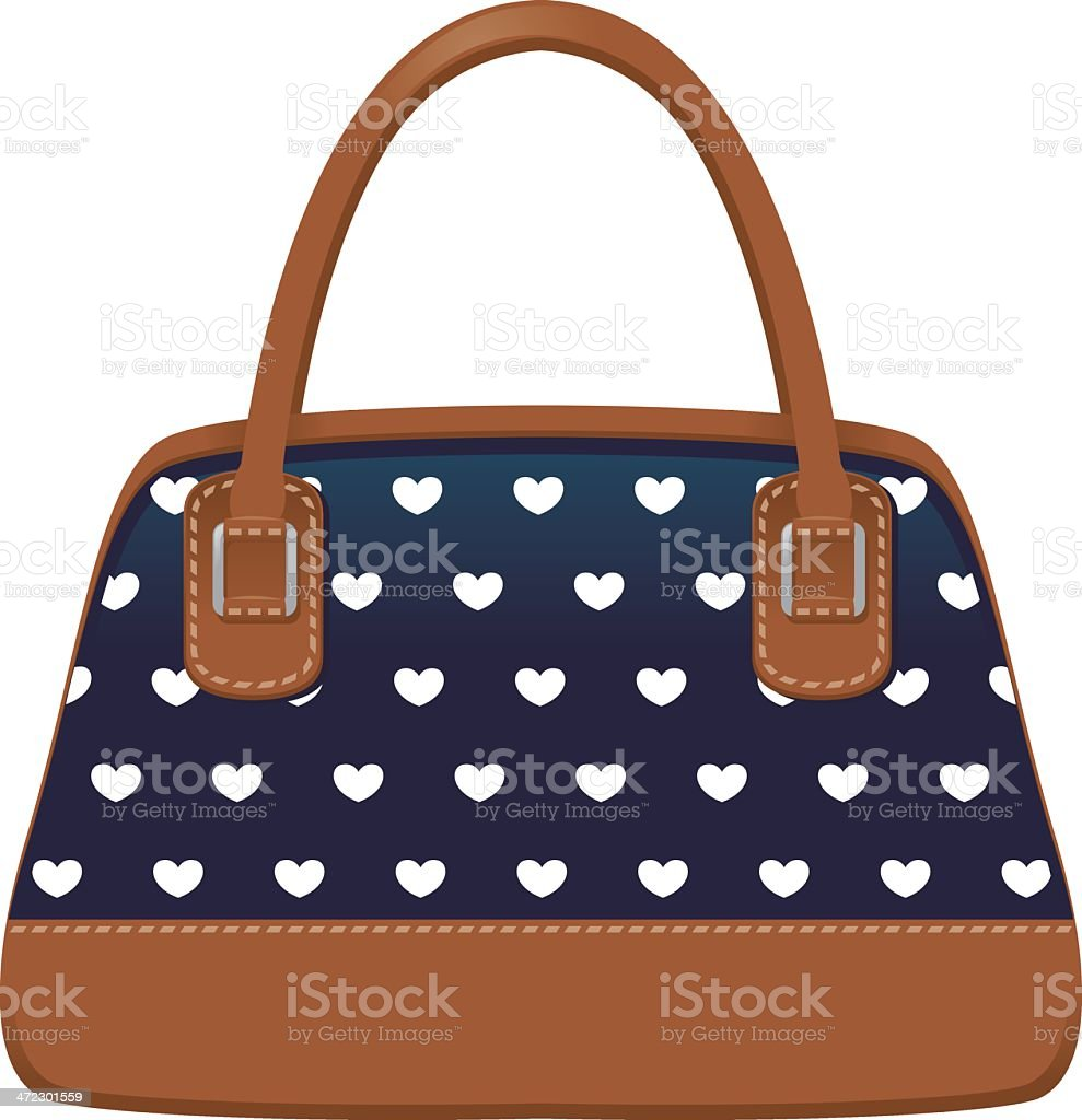 Cute Purse with Hearts royalty-free stock vector art