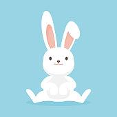 istock Cute rabbit character, Easter bunny vector illustration. 902867796