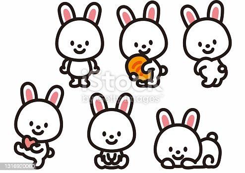 istock Cute rabbit character 1316920060