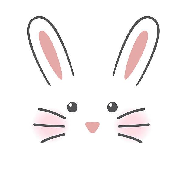 niedlich kaninchen gesicht - kaninchenbau stock-grafiken, -clipart, -cartoons und -symbole
