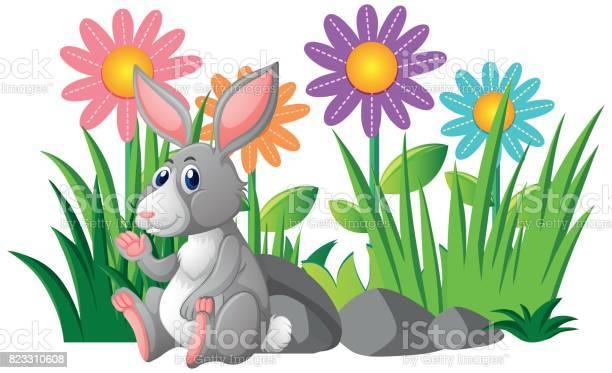 Cute rabbit in flower garden vector id823310608?b=1&k=6&m=823310608&s=612x612&h=apvjzmltljsfnf12fyluplp1pteq8mdh5c1b5usqmv4=