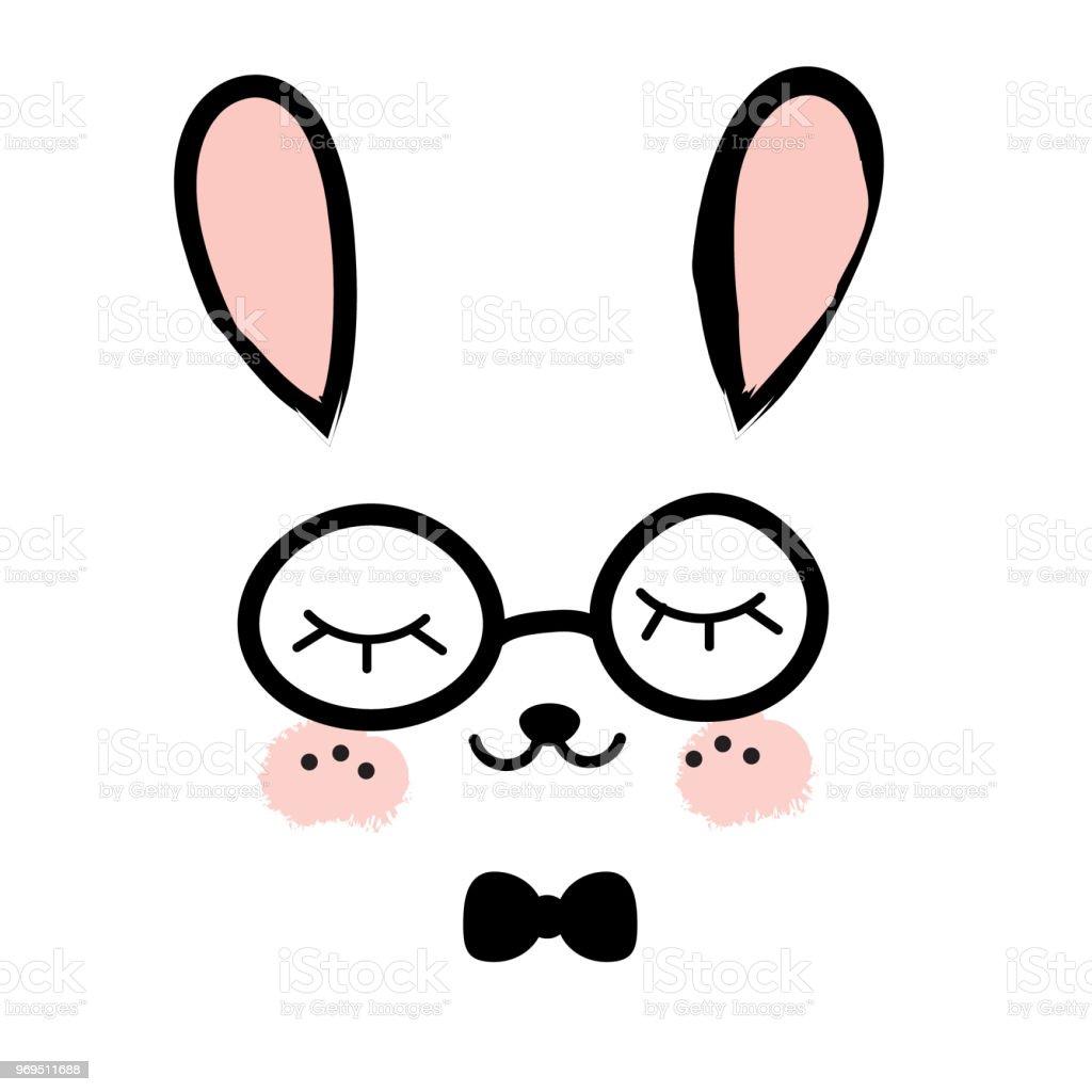 Mignon Lapin Kawaii Bunny Doux Petit Lievre Dessin Anime Visage Animaux Pour Les Enfants Imprimer Pour Les Enfants En Bas Age Et Bebes Mode Vecteurs Libres De Droits Et Plus D Images Vectorielles