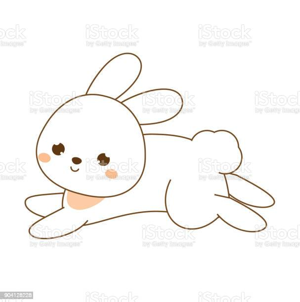 Cute rabbit kawaii bunny white hare jumping cartoon animal character vector id904128228?b=1&k=6&m=904128228&s=612x612&h=wvcoqkjexocg4p5yqcqp4w5a6fgqi15vdu4ijb1xita=