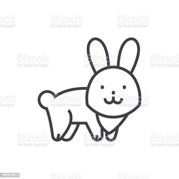 Cute rabbit vector line icon sign illustration on background editable vector id858553812?b=1&k=6&m=858553812&s=612x612&h=arumzbfk5sg sea7eqlytrbifot8guh9xuknwyg7v3u=