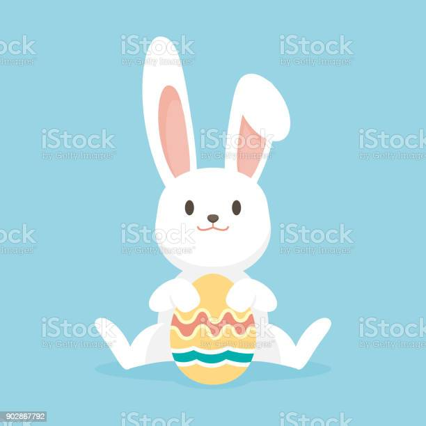 Cute rabbit with easter eggs happy easter bunny vector illustration vector id902867792?b=1&k=6&m=902867792&s=612x612&h=filov abcnishybgxr6aobrhowr69nknnx0w9vms7p0=