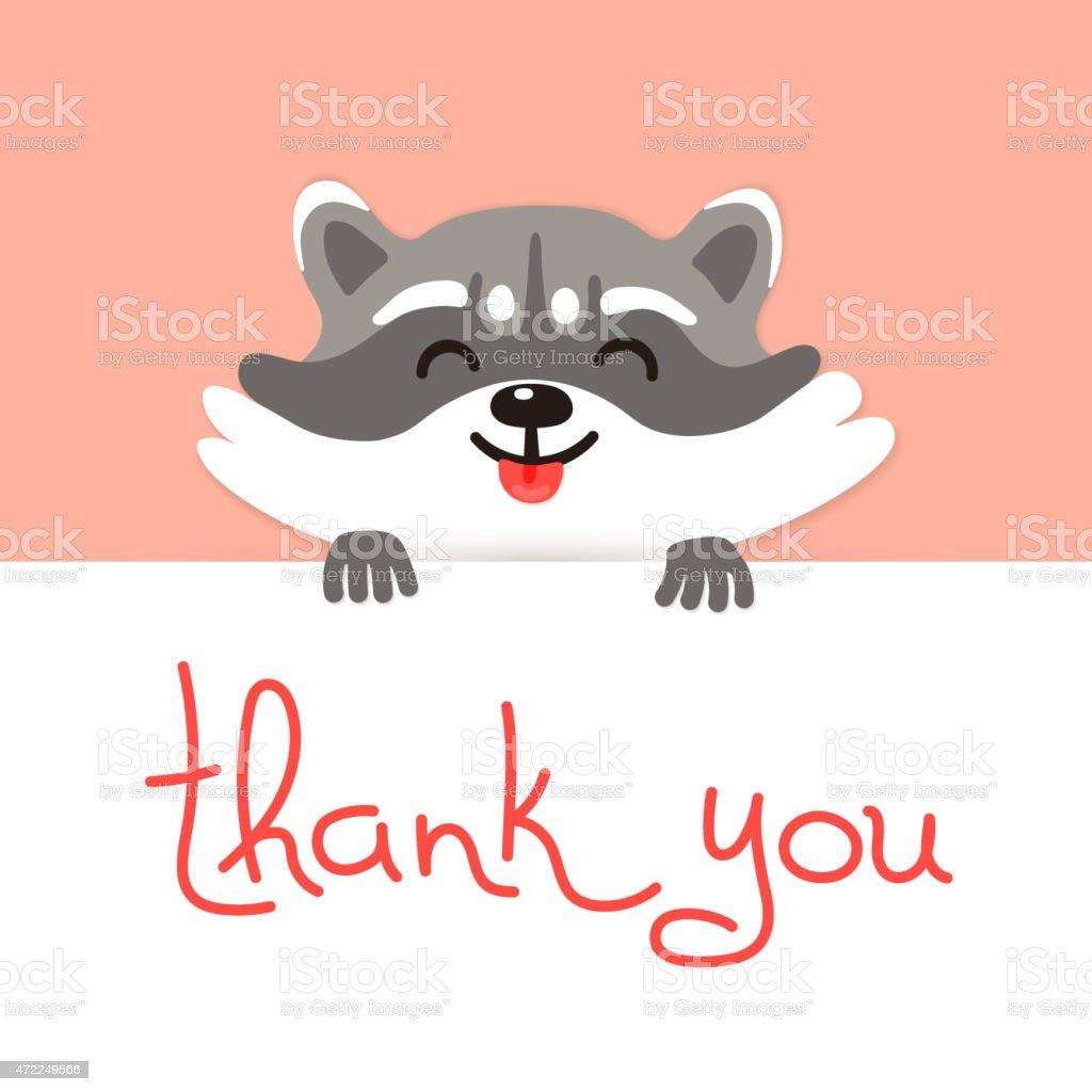 かわいいアライグマはありがとうございました - 2015年のベクターアート