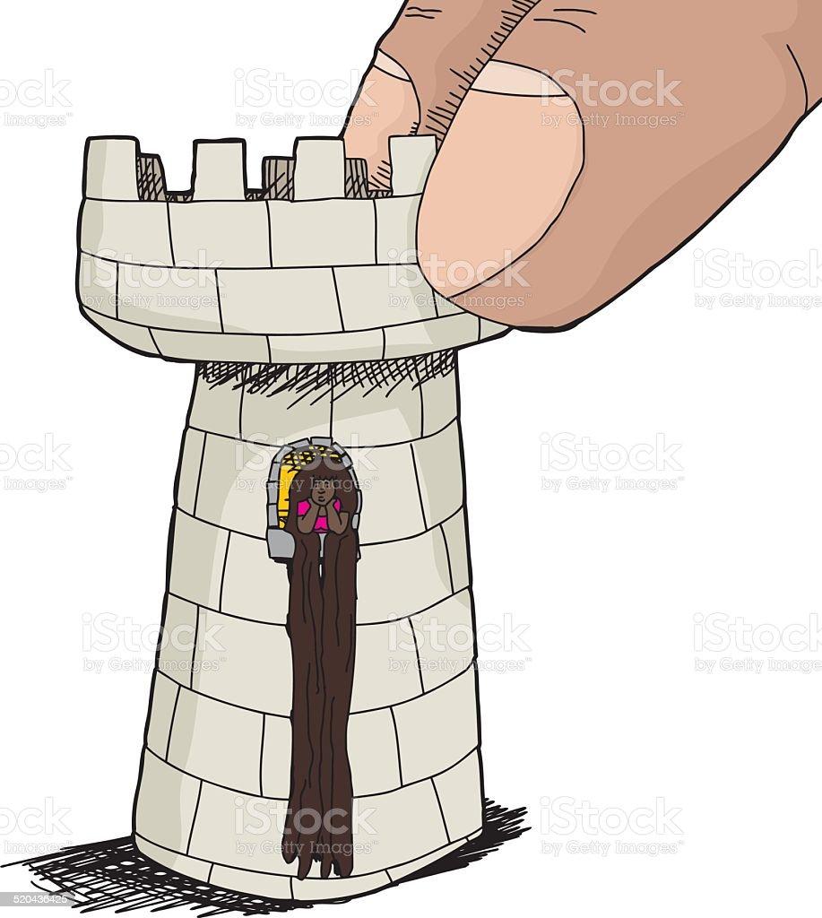 かわいいラプンツェルのチェスの駒 1人のベクターアート素材や画像を