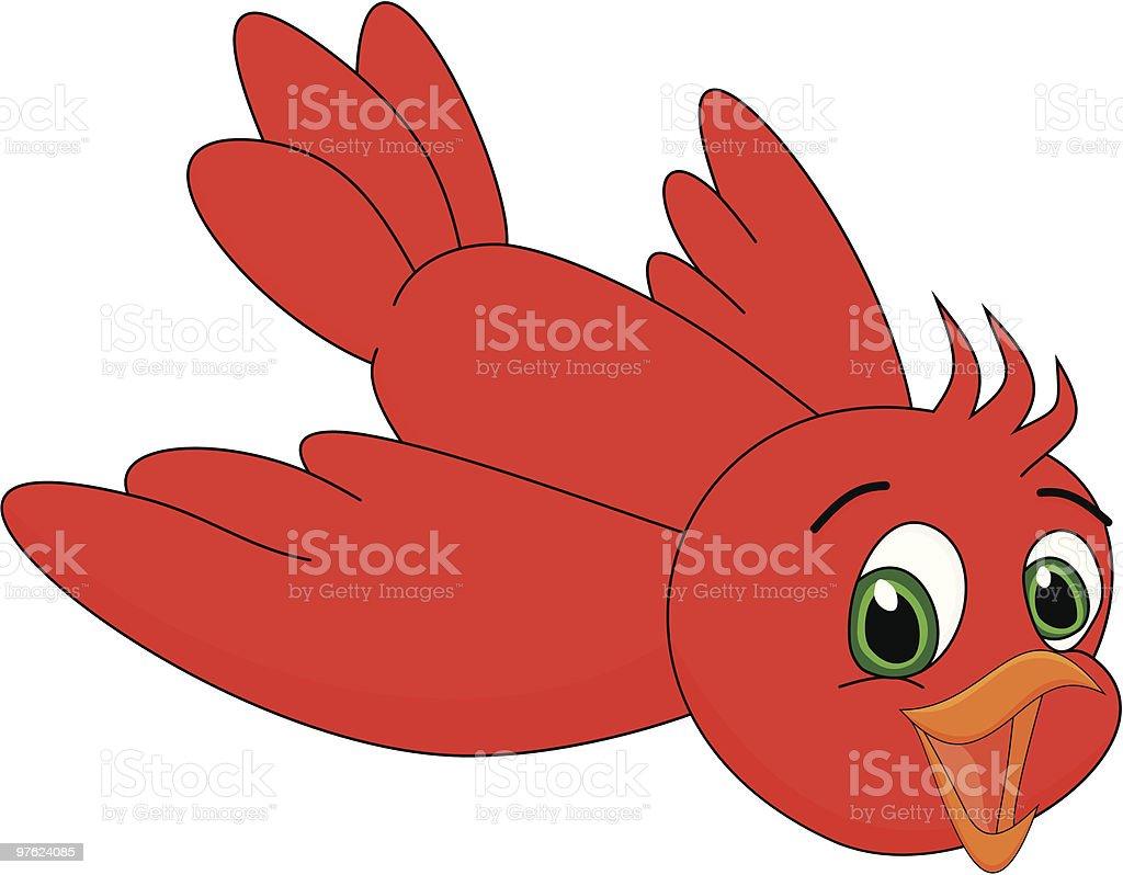 Oiseau en dessin animé mignon rouge illustration vectorielle oiseau en dessin animé mignon rouge illustration vectorielle – cliparts vectoriels et plus d'images de aile d'animal libre de droits