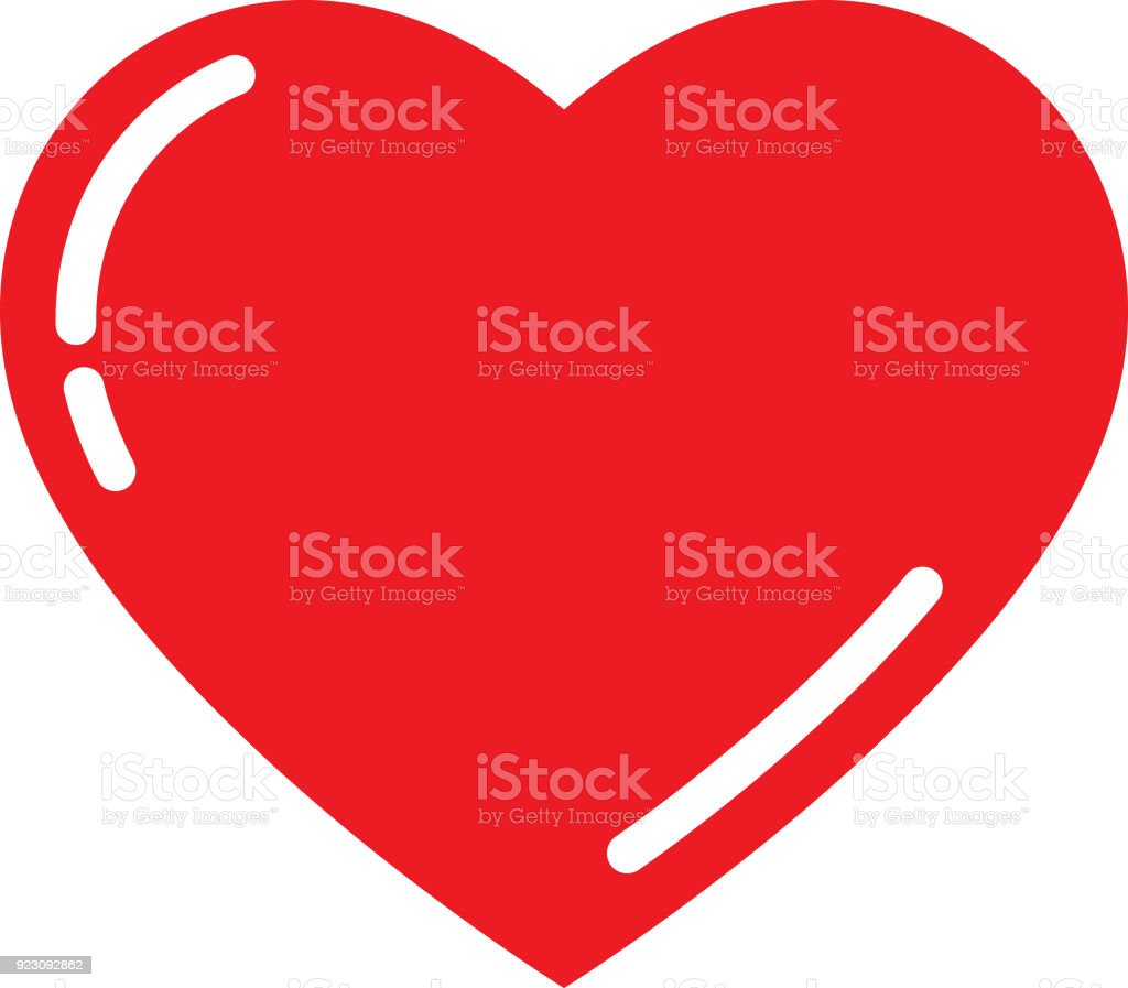 Cute Red Heart royalty-free cute red heart stock illustration - download image now