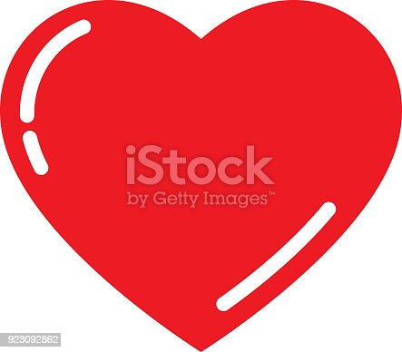 istock Cute Red Heart 923092862