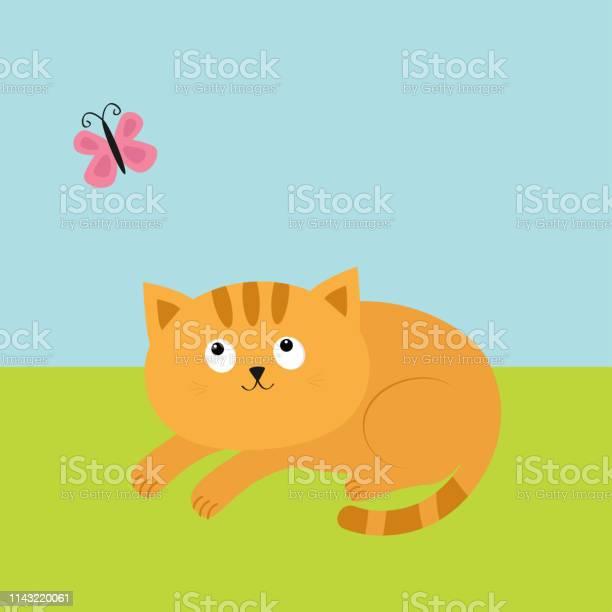 Cute red orange cat lying on grass and looking at flying pink vector id1143220061?b=1&k=6&m=1143220061&s=612x612&h=kqa15tkq eatdx07d1f5sn8krfngfru  xdeqqdtbqq=