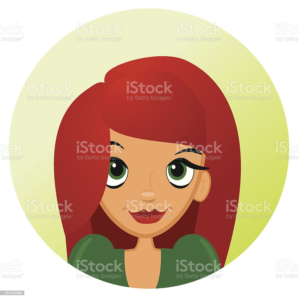 Cute red-haired girl royalty-free cute redhaired girl stock vector art & more images of adult