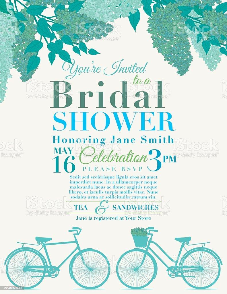 Cute retro bicycle bridal shower invitation stock vector art more cute retro bicycle bridal shower invitation royalty free cute retro bicycle bridal shower invitation stock filmwisefo