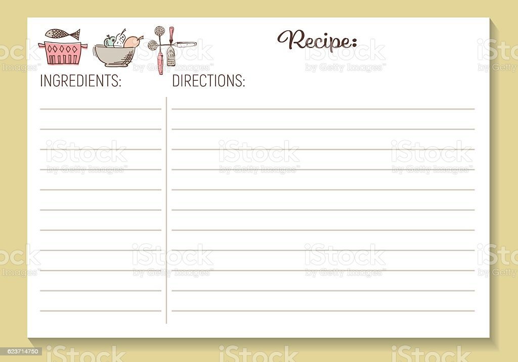 Royalty Free Recipe Card Clip Art Vector Images  Illustrations