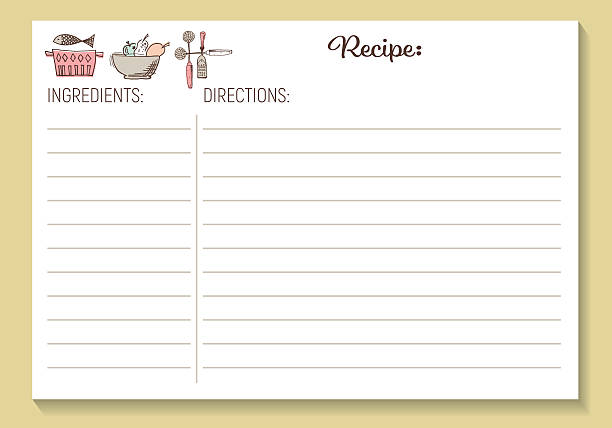 Royalty Free Recipe Card Template Clip Art, Vector Images ...