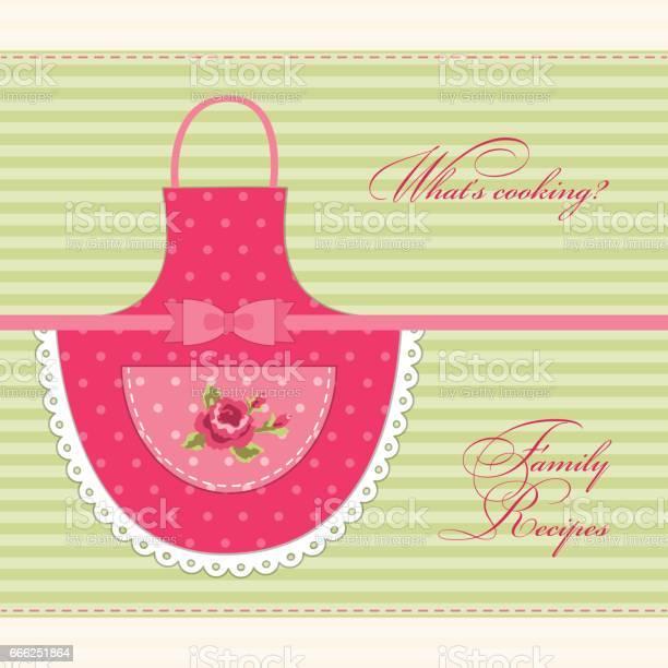 Cute retro recipe card with imitation of moms apron vector id666251864?b=1&k=6&m=666251864&s=612x612&h=k8ghatp0 c0ex9r9gjbbos7fs u509zh8oetkkjwsy8=