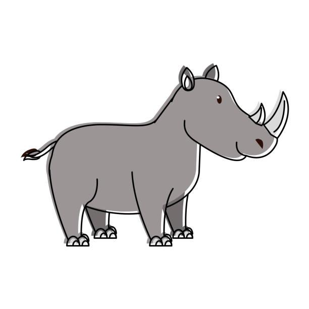 귀여운 코뿔소 말풍선이 있는 - 강아지 실루엣 stock illustrations