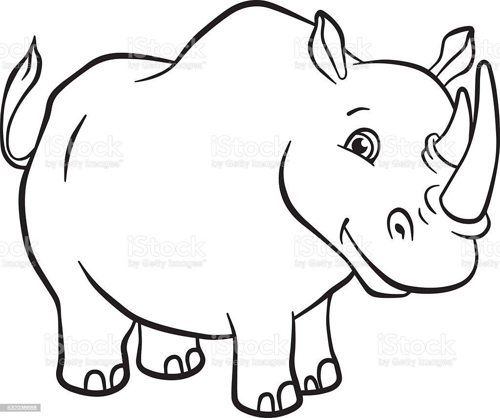 royalty free rhino coloring page clip art vector images rh istockphoto com rhino clipart gif rhino head clipart