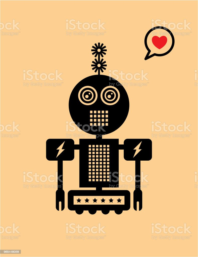 cute robot valentine greeting card royalty-free cute robot valentine greeting card stock vector art & more images of anniversary
