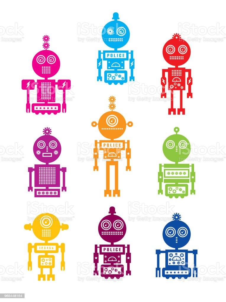 cute robot vector collection set royalty-free cute robot vector collection set stock vector art & more images of alien