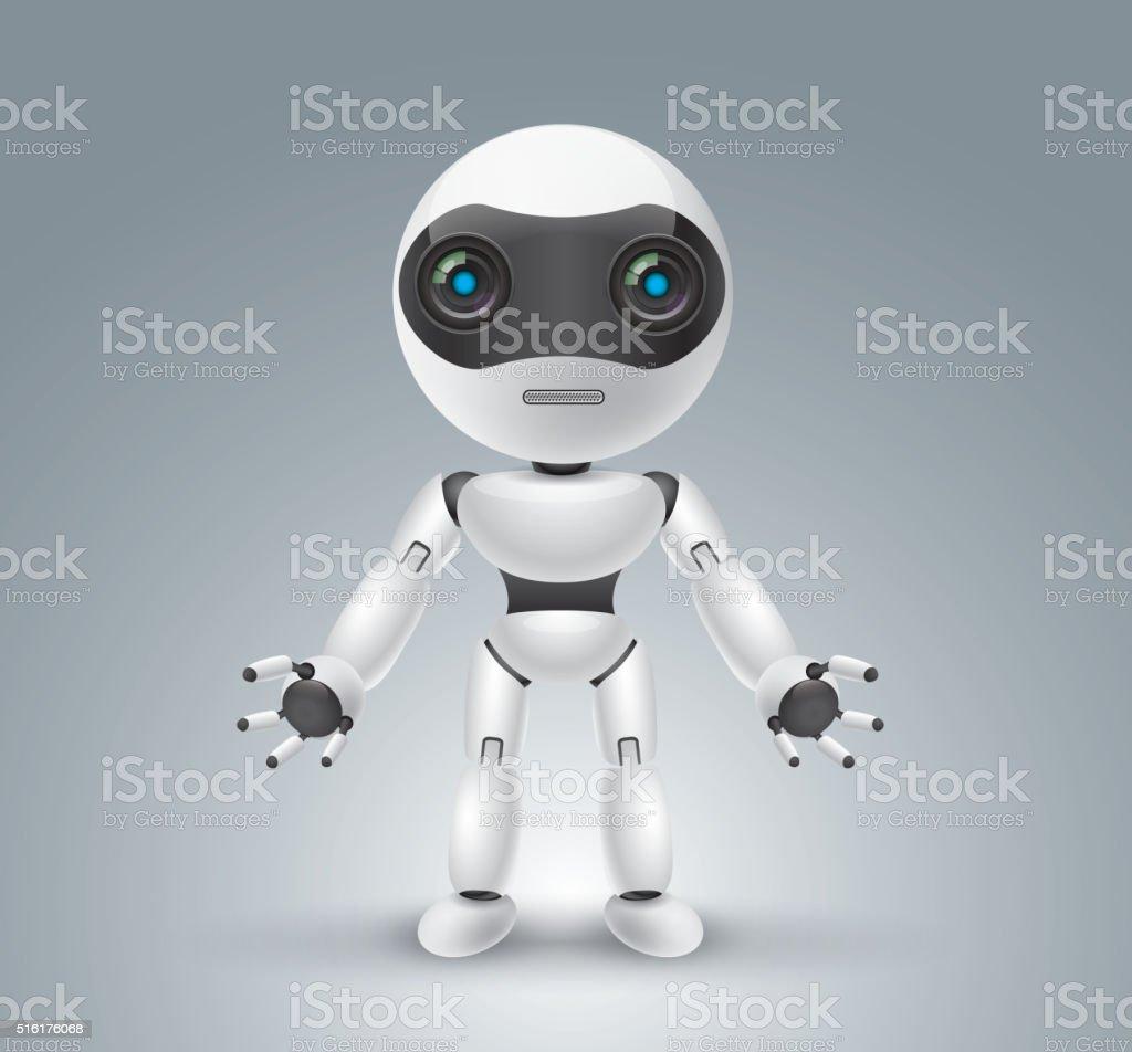 Cute robot vektör sanat illüstrasyonu