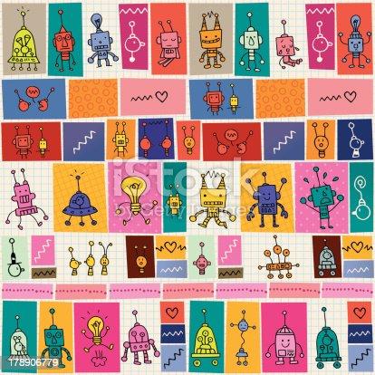 istock cute robots pattern 178906779