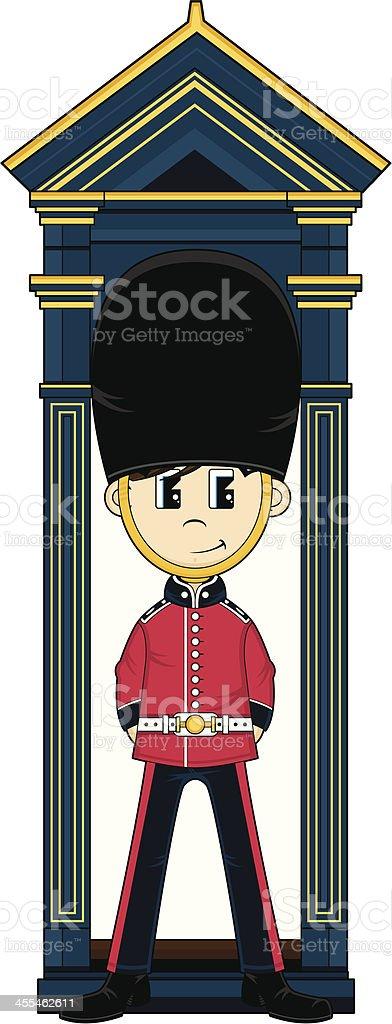 Cute Royal Queens Guard royalty-free stock vector art