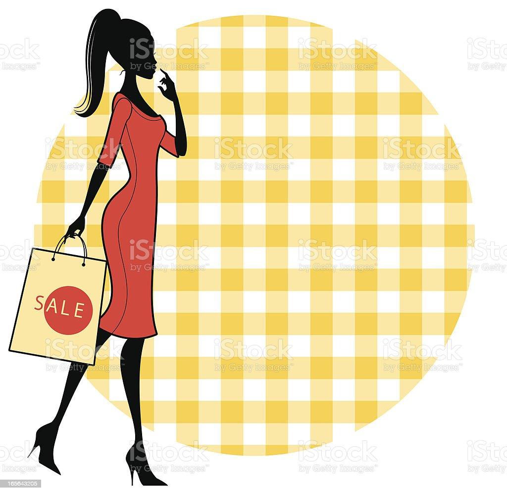Cute Sale Shopper royalty-free stock vector art