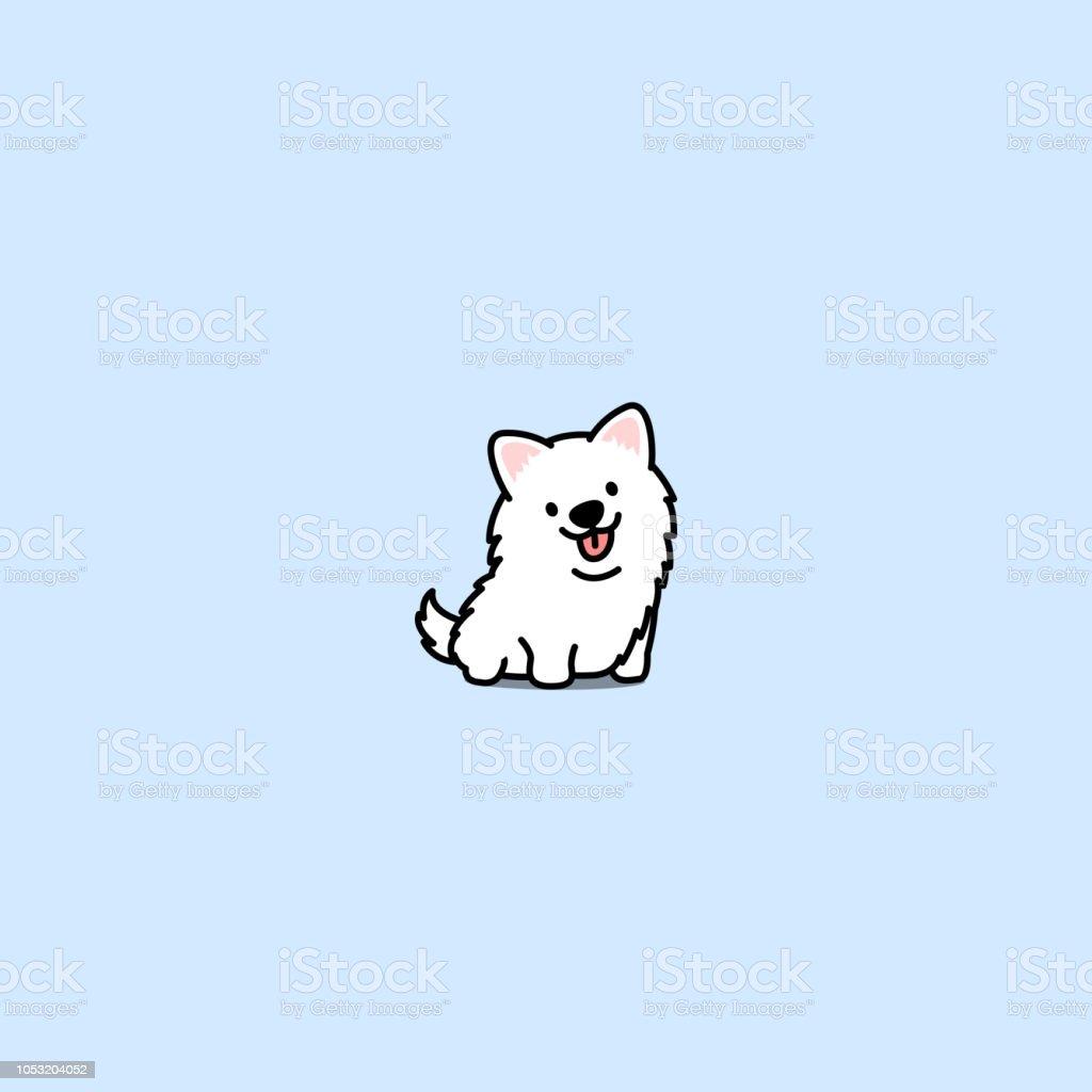 Cute Samoyed Dog Cartoon Icon Vector Illustration Stock Illustration Download Image Now Istock