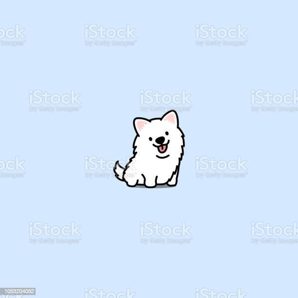 Cute samoyed dog cartoon icon vector illustration vector id1053204052?b=1&k=6&m=1053204052&s=612x612&h=okf6x8tkgn98ch8d2u724jnrb9tbprepcavw0qvphlm=
