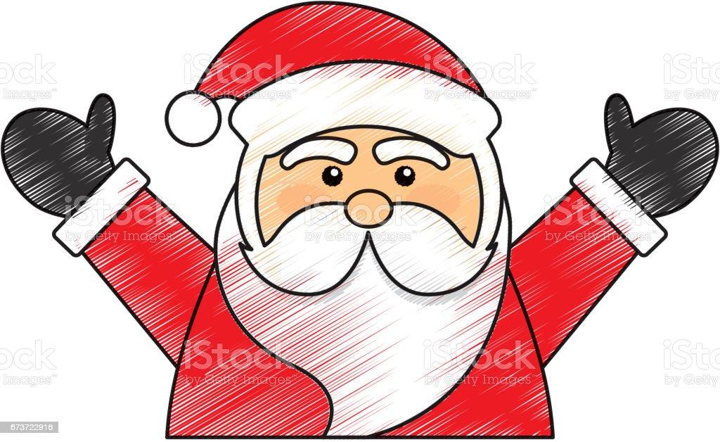mignon personnage avatar de santa mignon personnage avatar de santa – cliparts vectoriels et plus d'images de adulte libre de droits