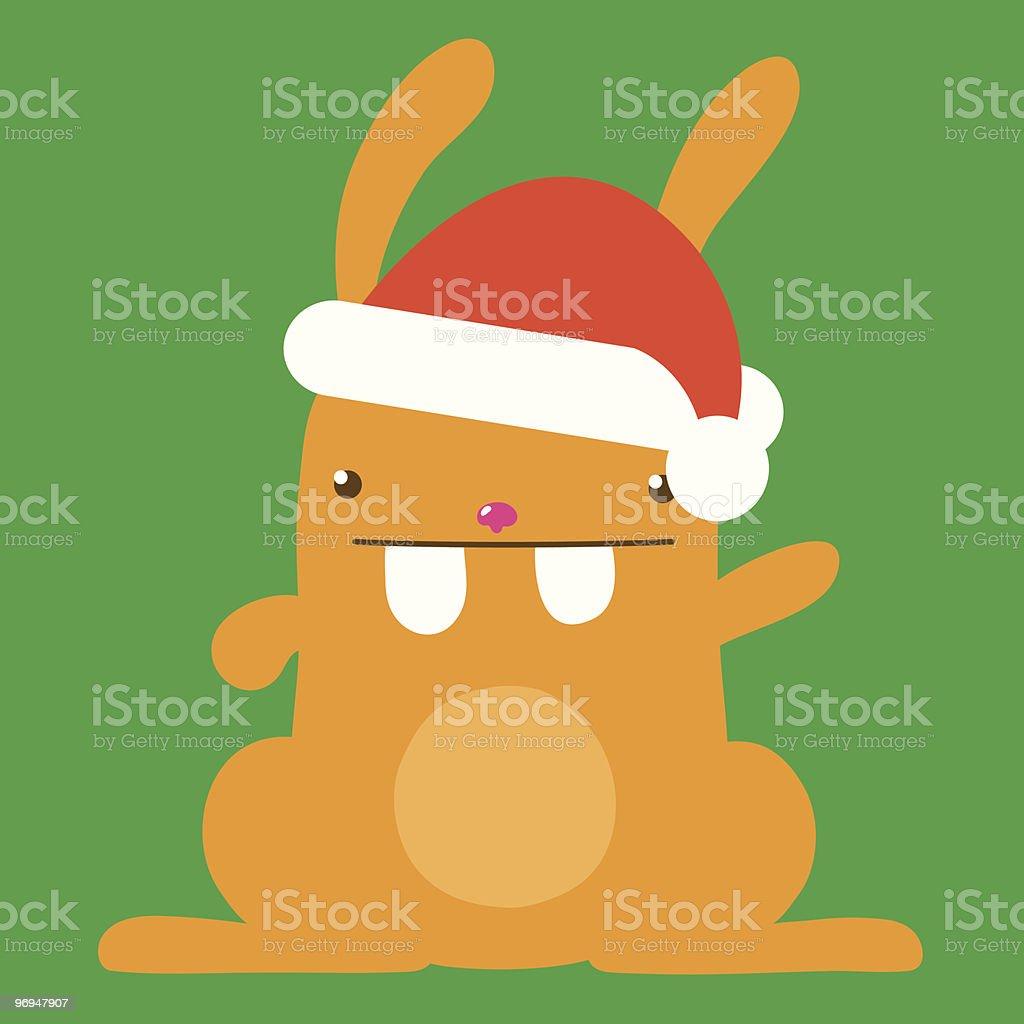 Cute santa bunny - vector royalty-free cute santa bunny vector stock vector art & more images of advent