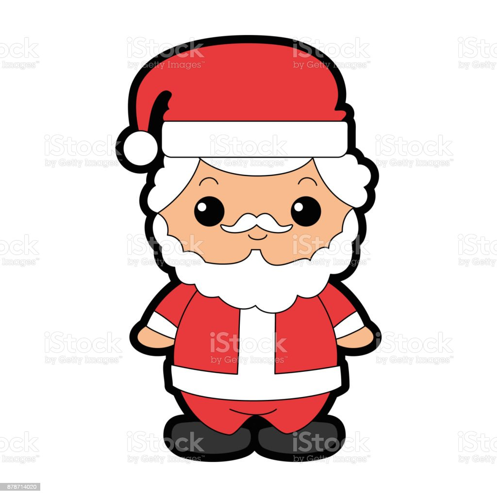 Cute Santa Claus Kawaii Character Stock Illustration Download Image Now Istock