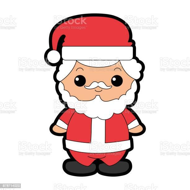 Ilustración De Lindo Personaje Kawaii De Santa Claus Y Más Vectores Libres De Derechos De Acontecimiento Istock