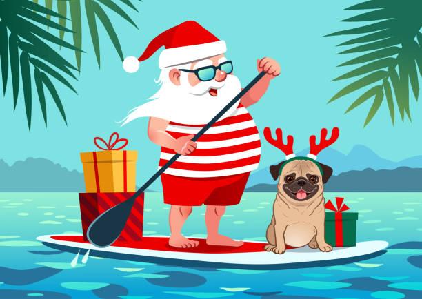 Best Santa Beach Illustrations, Royalty-Free Vector Graphics & Clip Art - iStock