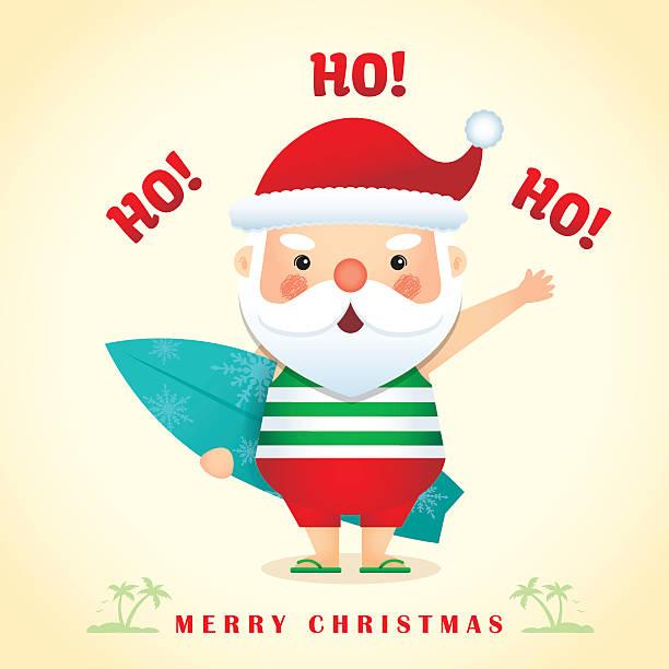 cute santa - summer 3 - old man slippers stock illustrations, clip art, cartoons, & icons