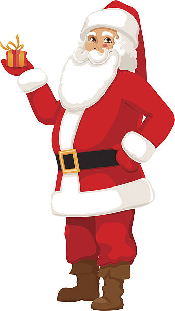 cute santa - old man funny pictures stock illustrations
