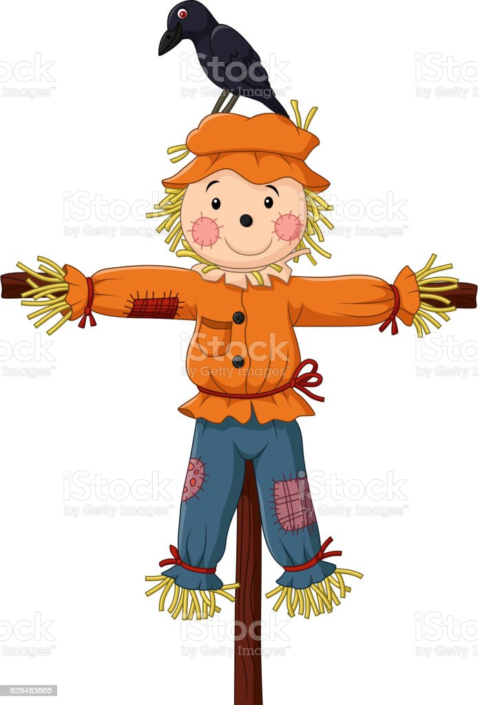 cute scarecrow cartoon stock vector art amp more images of