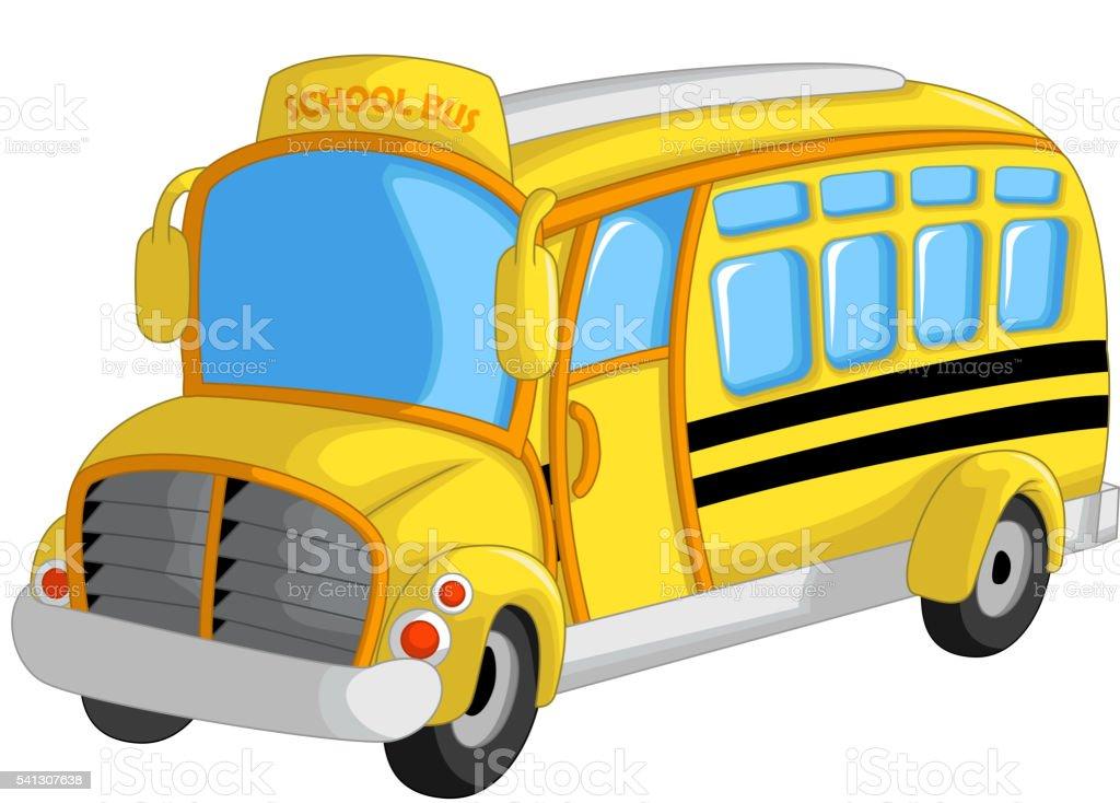Joli Bus Scolaire Dessin Animé Vecteurs Libres De Droits Et
