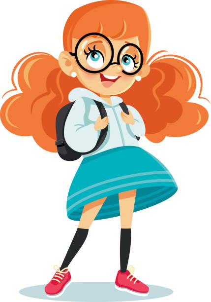 Royalty Free Schoolgirl Clip Art, Vector Images ...