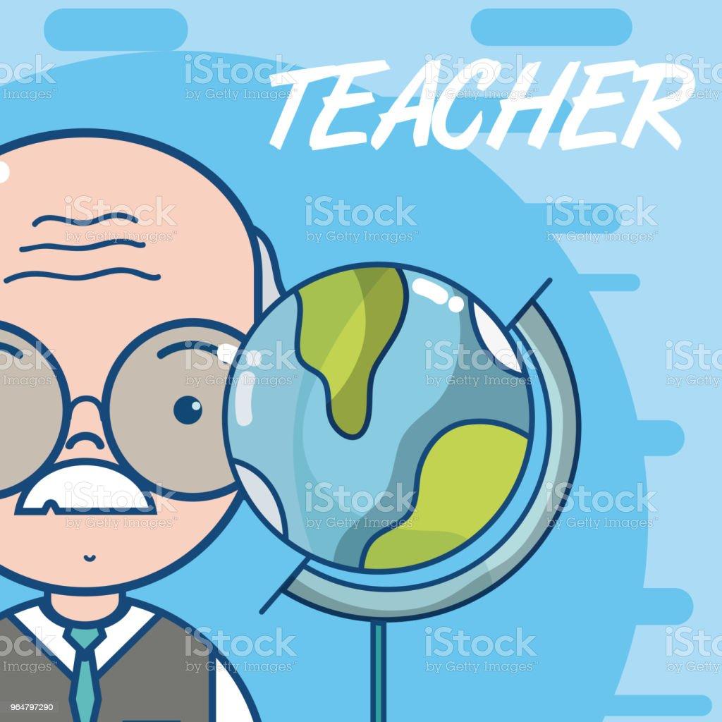 Cute school teacher cartoon royalty-free cute school teacher cartoon stock vector art & more images of child