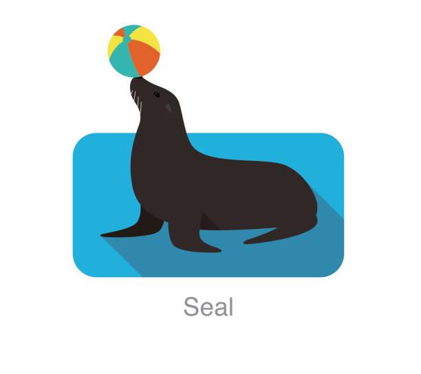 再生ボール、ベクトル イラストかわいいシール - 水族館点のイラスト素材/クリップアート素材/マンガ素材/アイコン素材